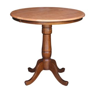 Counter Height Pedestal 36u0022Dining Table - International Concepts