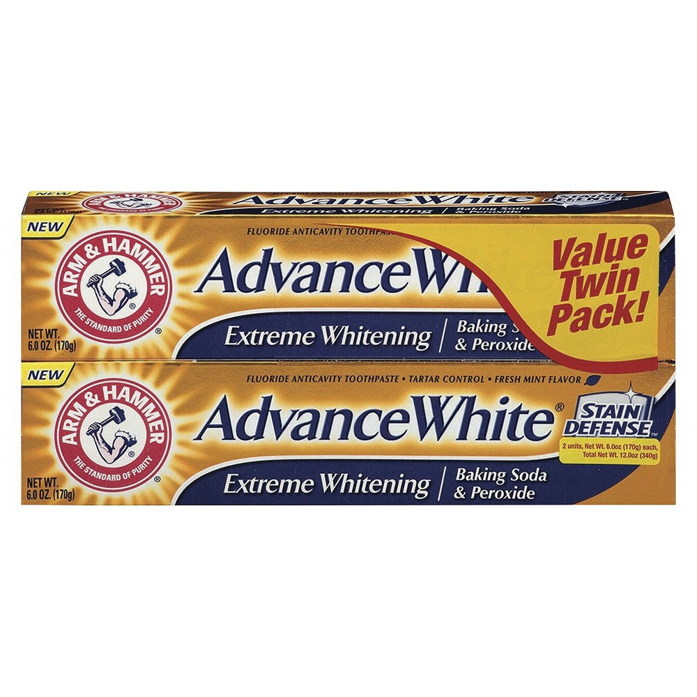 Arm & Hammer Advance White Extreme Whitening Baking Soda & Peroxide Toothpaste - 12oz/2pk