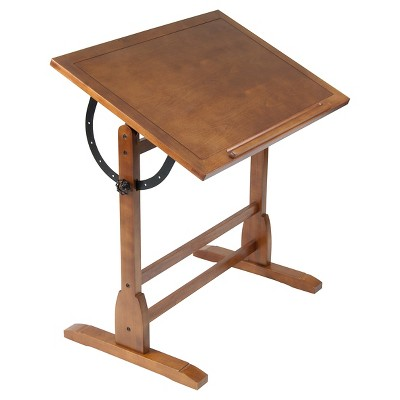 "36"" Canvas & Color Retro Wood Table Rustic Oak - Studio Designs"