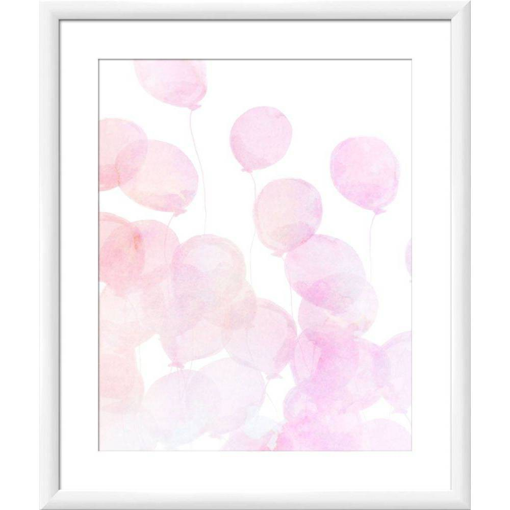 "Image of ""18"""" x 22"""" Pink Balloons Wall Art - PTM Images"""