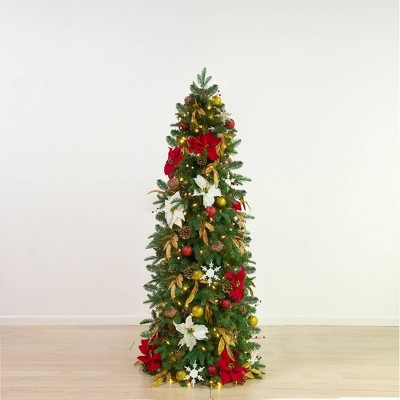 5.5ft Easy Treezy Pre-Lit LED Historic Pre-Decorated & Easy Setup Artificial Christmas Tree