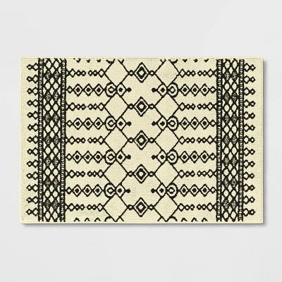 "2'6""x3'10"" Lyndon Washable Geometric Rug Black/White - Project 62™"