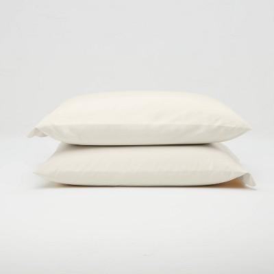 King Washed Supima Percale Solid Pillowcase Set Natural - Casaluna™
