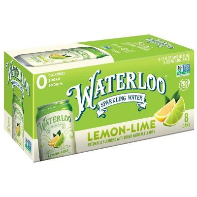 Waterloo Lemon-Lime Sparkling Water - 8pk/12 fl oz Cans