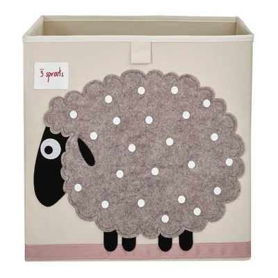 Sheep Fabric Kids Toy Storage Bin - 3 Sprouts