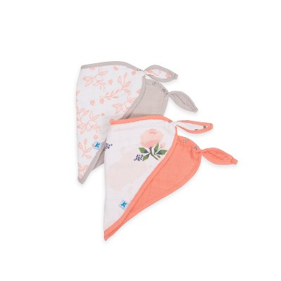 Little Unicorn Bandana Bibs - Watercolor Rose