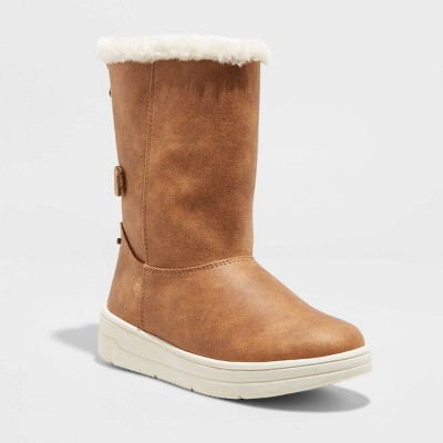Girls' Aleka Faux-Suede Shearling Style Boots - Cat & Jack™