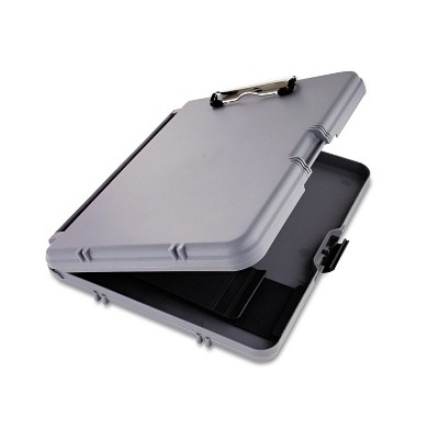 """Saunders WorkMate Storage Clipboard 1/2"""" Capacity Holds 8 1/2w x 12h Charcoal/Gray 00470"""