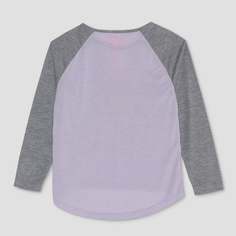Girls  L.O.L. Surprise! Long Sleeve Raglan T-Shirt - Lilac Gray   Target ea5b8991fd0