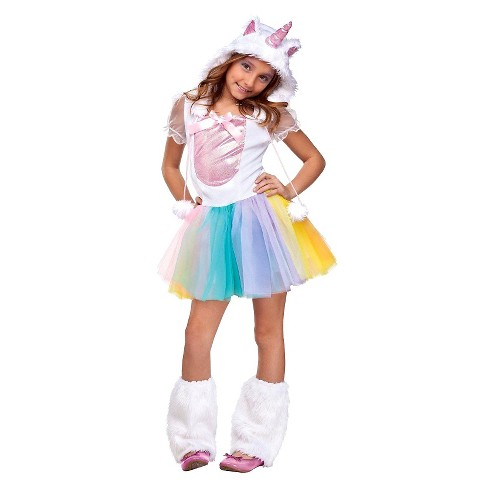 Girls' Unicorn Costume Medium 8-10 - image 1 of 1