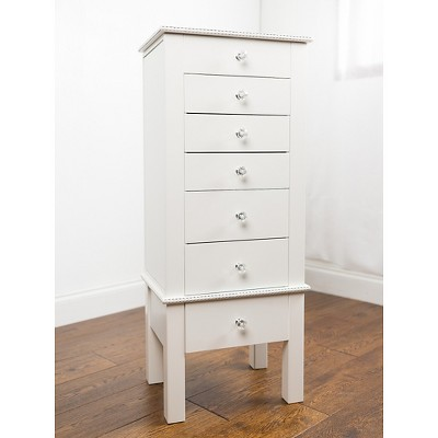 Crystal Jewelry Armoire White - Hives & Honey