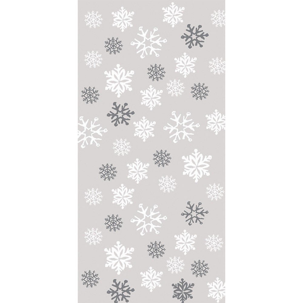 20ct Snowflake Favor Bags, White