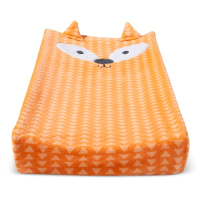 Plush Changing Pad Cover Fox - Cloud Island™ - Orange