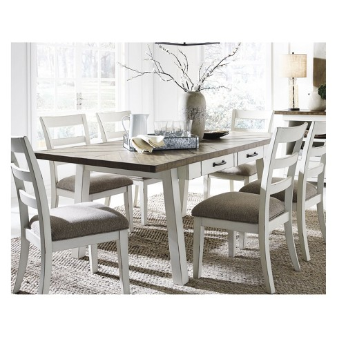 Stownbranner Rectangular Dining Room Table White Gray Signature Design By Ashley Target