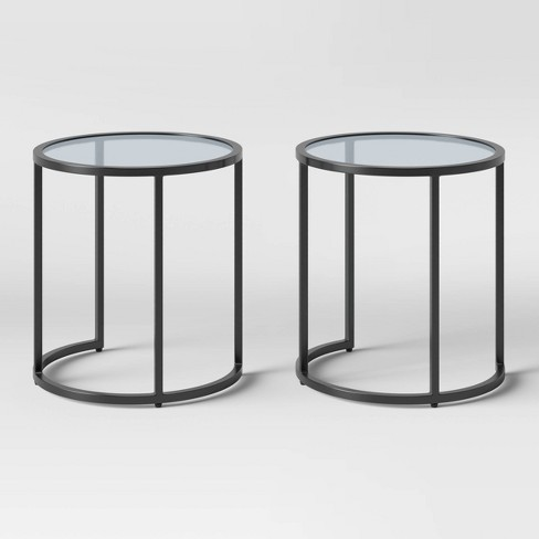 Flat Black Nesting Patio Accent Table Set - Project 62™ - image 1 of 3