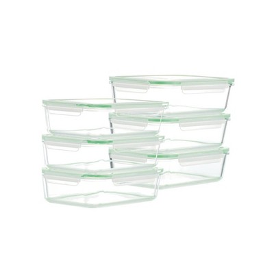 Kinetic Go Green Glassworks Rectangular Food Storage Container Set - 51oz