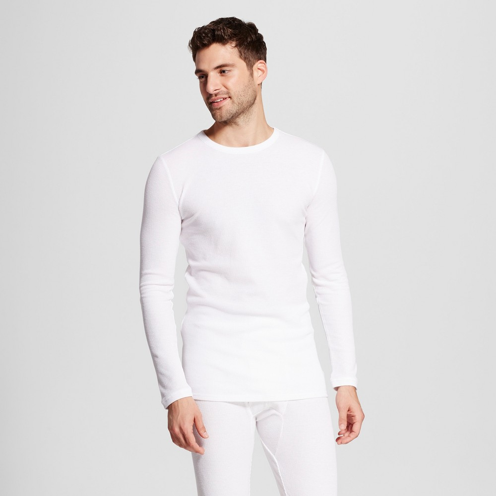 Men's Tall Long Sleeve Micro Thermal Shirt - Goodfellow & Co White MT