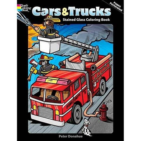 Cars & Trucks Stained Glass Coloring Book - (Dover Coloring Books) by  Peter Donahue (Paperback) - image 1 of 1