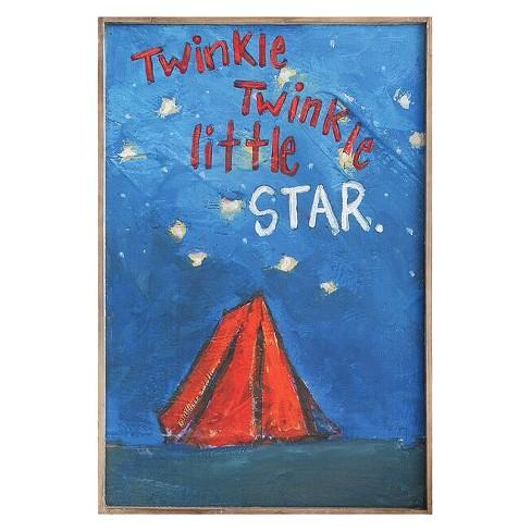 Wood Twinkle Twinkle Little Star Wall Décor - 3R Studios : Target