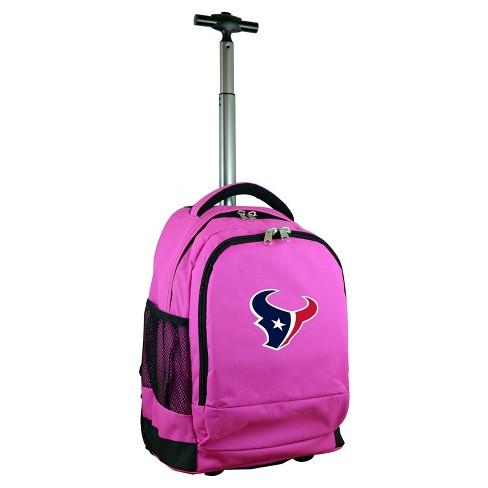 NFL Houston Texans Premium Wheeled Backpack - Pink - image 1 of 4