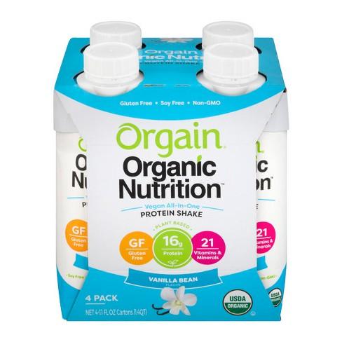 28e2a04794 Orgain Organic Vegan Nutritional Shake - Vanilla - 11 Fl Oz/4ct Bottles :  Target