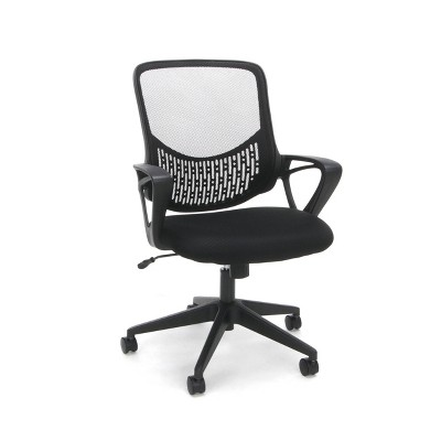 Mesh Back Adjustable Task/Office Chair with Arms Black - OFM