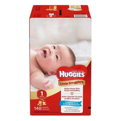 Huggies Little Snugglers Diapers - Size 1 (148ct)