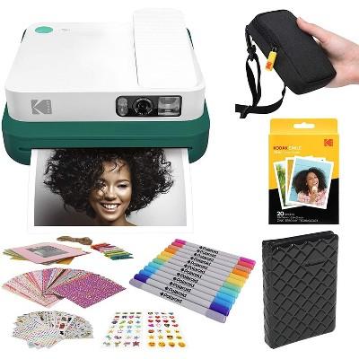KODAK Smile Classic Digital Instant Camera with Bluetooth Stickers Bundle