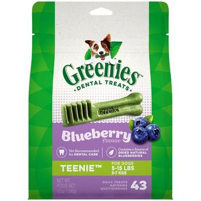 Greenies Blueberry Teenie Dental Dog Treats - 43ct