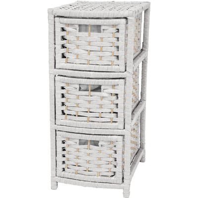 """Oriental Furniture 25"""" Natural Fiber Occasional Chest of Drawers"""