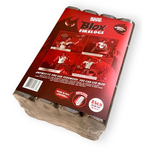 Jealous Devil Blox Hickory & Oak Compressed Natural Hardwood Firewood for Cooking and Grilling, 12 Logs - image 1 of 4
