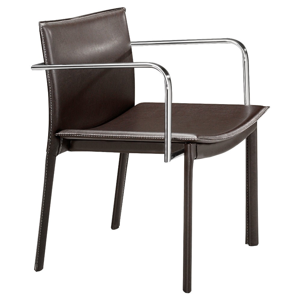 Faux Leather Wrapped Conference Chair - Espresso - ZM Home, Brown