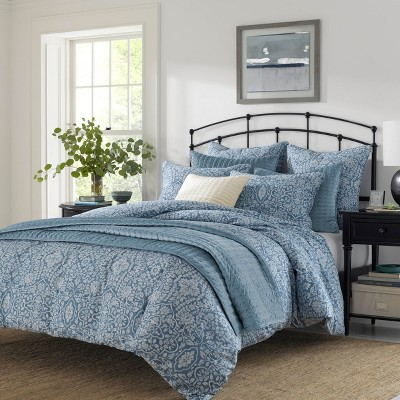 Full/Queen Granada Comforter Set Blue - Stone Cottage