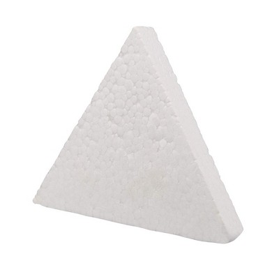 6 Pack Triangle Polystyrene Foam, Painting Activity for Kids, DIY Toy Puzzle, Arts & Crafts Supplies for School Project, 10 inches