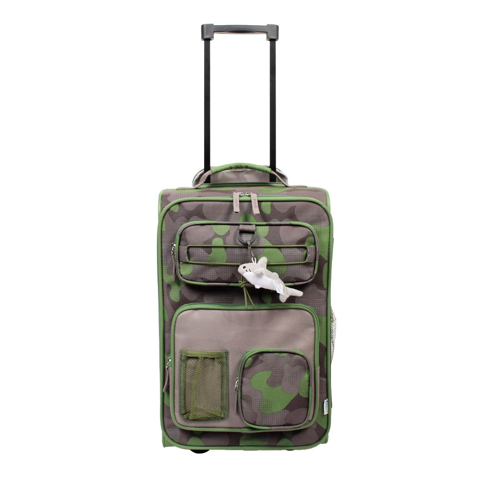 """Image of """"Crckt 18"""""""" Kids' Carry On Suitcase - Camo, Boy's, Gray Green"""""""
