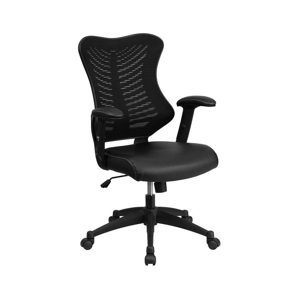 Executive Swivel Office Chair with Leather Padded Seat  - Flash Furniture