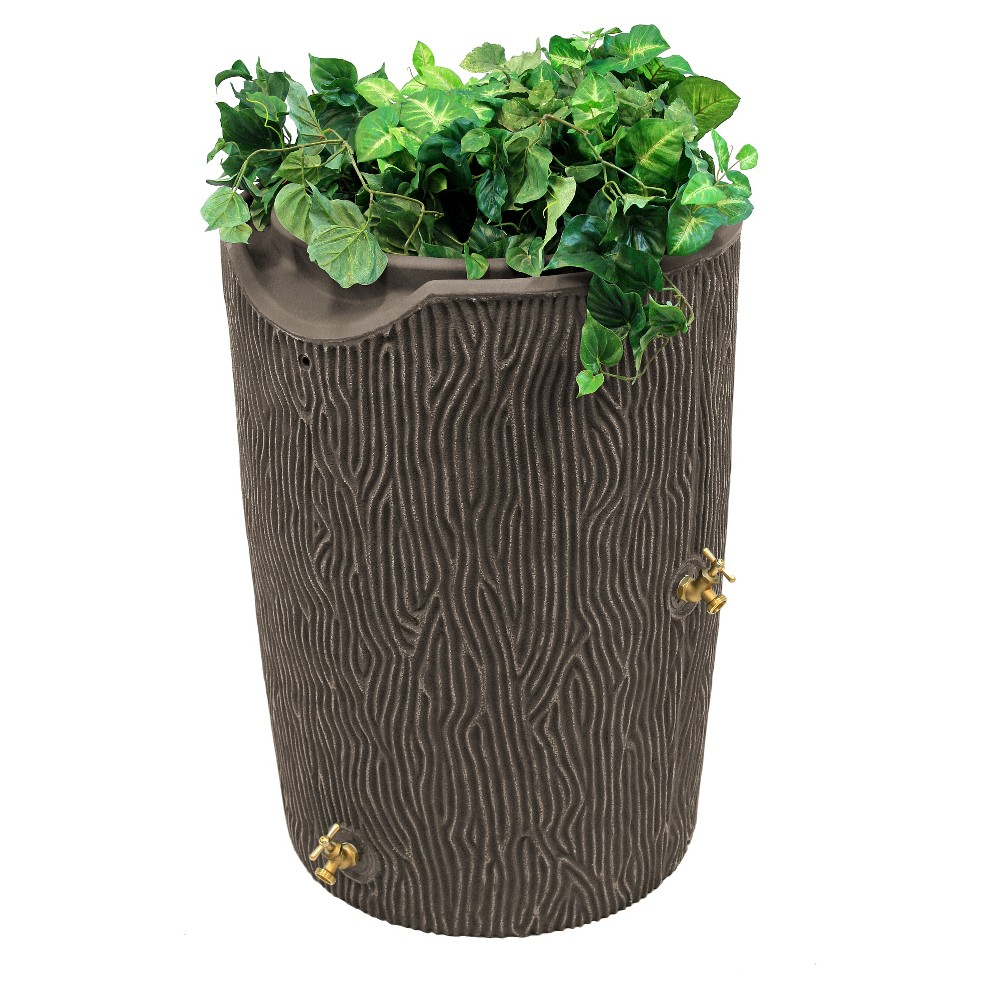 Image of Impressions Bark 50 Gallon Rain Saver - Oak - Good Ideas, Brown