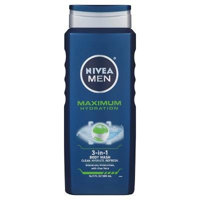Body Washes & Gels: Nivea Men Maximum Hydration 3-in-1 Body Wash