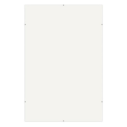 Framatic Frameless Glass Clip Picture Frame for a 20x24  Photograph, Chrome - image 1 of 1