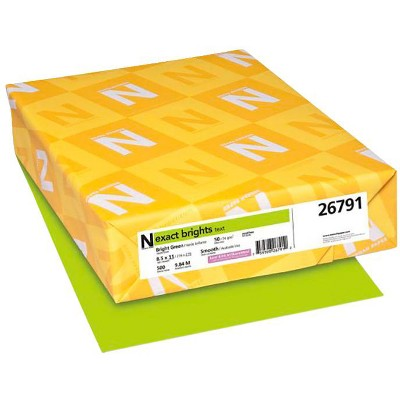 Exact Color Copy Paper, 8-1/2 x 11 Inches, 20 lb, Bright Green, 500 Sheets