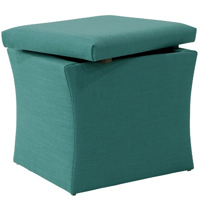 Charmant Layla Storage Ottoman Teal Linen   Cloth U0026 Co : Target