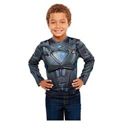 Power Rangers Black Deluxe Ranger Dress Up Set with Light Up Chest Armor, Kids Unisex