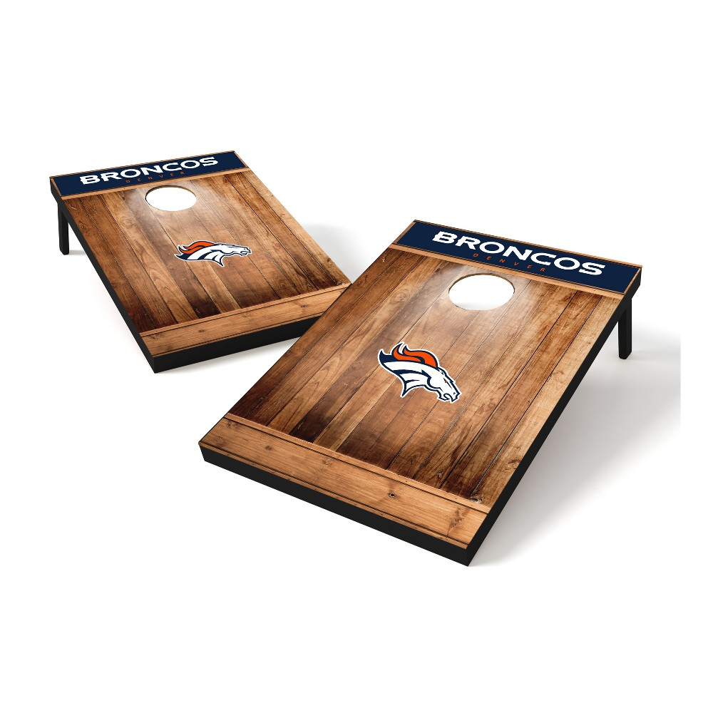 Denver Broncos Wild Sports 2x3 Rustic Wooden Plaque Tailgate Toss