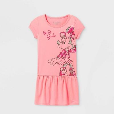 Girls' Disney Minnie Mouse Dress - Pink