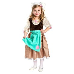 Little Adventures Girls' Cinderella Day Dress - S, Size: Small, Brown Green