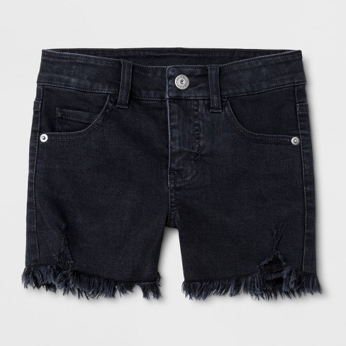 Girls' Denim Shorts - art class™ Black - image 1 of 3