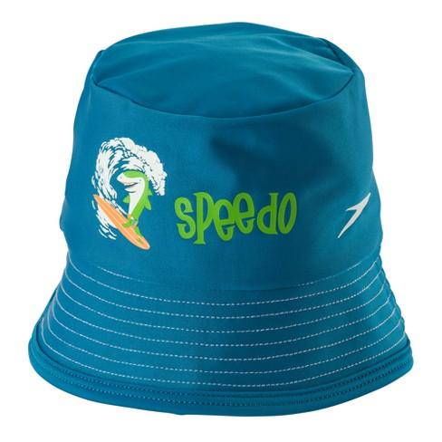 0649131a2 Speedo Boys Bucket Hat - Blue (Small/Medium)