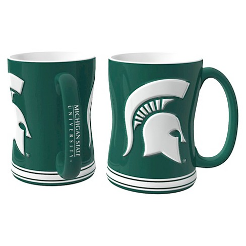 Michigan State Spartans Boelter Brands 2 Pack Sculpted Relief Style Coffee Mug - Green/ White (15 oz) - image 1 of 1