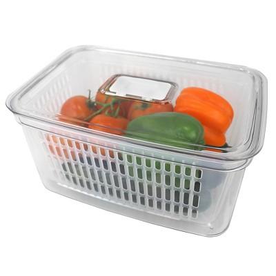 Home Basics Keep Fresh Vegetable Keeper, Clear