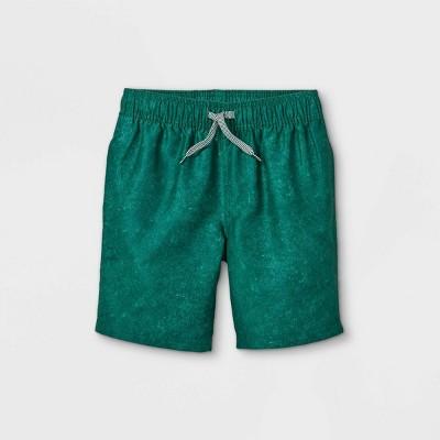 Boys' Solid Swim Shorts - Cat & Jack™ Dark Green